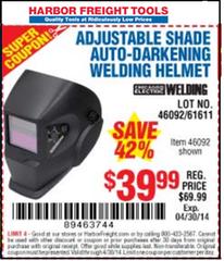 Harbor freight welding helmet coupon 2018