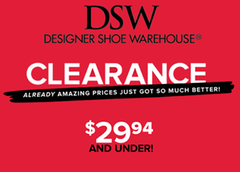 DSW (Designer Shoe Warehouse) is a great place to pick up new pairs of shoes for men, women and children. They offer everything from name-brand designer shoes to casual footwear at a reasonable price. You can also find awesome handbags and accessories at DSW. Check out the following DSW coupon codes to get FREE shipping and extra discounts!