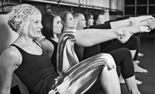 5 or 10 BarreAmped or Yoga Classes at Relevé One Fitness Studios Featuring BarreAmped (Up to 59% Off)