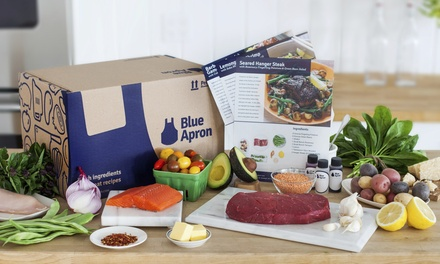 Three Delivered Meals for Two or Four from Blue Apron (Up to 42% Off). Shipping Included