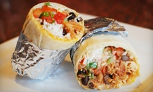 $15 for Five Burritos at Cafe Burrito (Up to $33.75 Value)