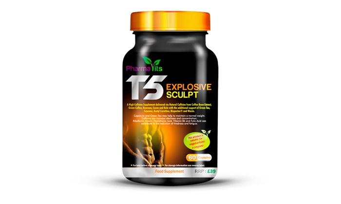 Cápsulas Pharmavits T5 Explosive Sculpt para um, dois ou três meses desde 9,90€