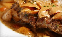 Italian Cuisine and Drinks at Caf Trastevere (Up to 51% Off)