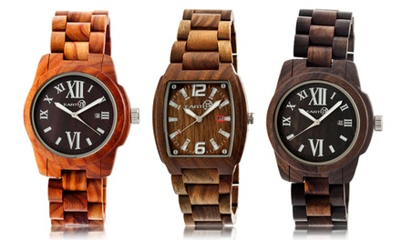Earth Heartwood and Sagano Unisex Wood Watches