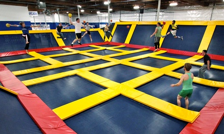 Trampolining or Private Group Trampolining at Sky High Sports (Up to 50% Off). Five Options Available.