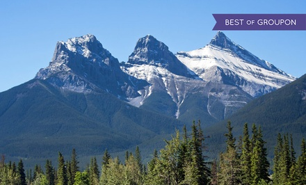 groupon daily deal - 1- or 2-Night Stay for Two with Dining Credit and Breakfast at Windtower Lodge & Suites in Canmore, AB