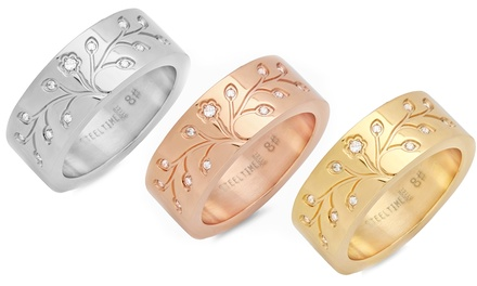 Tree of Life Ring or Bangle in Stainless Steel, 18K Gold Plating, or 18K Rose-Gold Plating
