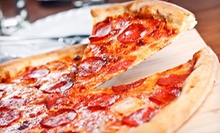 Two Large Pizzas and Side, or Five-Visit Punch Card Good for Sandwiches or Large Pizzas at The Pizza Pub (Up to 56% Off)