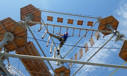 Three-Hour Ropes Course, Zipline, and Jump Adventure for One or Two at Synergy Woods (Up to 40% Off)