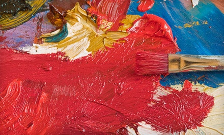 Two-Hour Canvas- or Wineglass-Painting Party for Two or Four at Juiced on Imagination (Up to 69% Off)