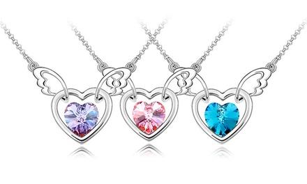 Um, dois ou três colares banhados a prata com coração e Swarovski Elements desde 9,99€