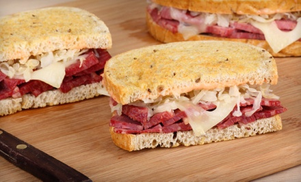 Sandwiches, Burgers, and Drinks at 3 Brothers Deli and Brewhouse (Up to 52% Off). Two Options Available.