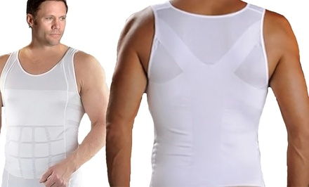 Men's 3-in-1 Invisible Corrective Posture Support Compression Undershirt