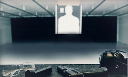 Shooting-Range Package with Lane and Handgun Rental, and Ammo for Two or Four at BluCore Shooting Center (Up to 55% Off)