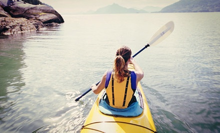 Kayak Rental for One or Tandem-Kayak or Canoe Rental for Two from EMS Outdoor Schools (Up to 52% Off)