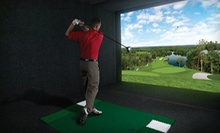 18-Hole Simulated Round of Golf for Two or 90 Days of Unlimited Simulated Golf at Global Indoor Golf (Up to 57% Off)