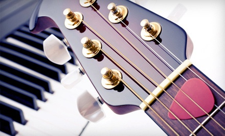 Two, Four, or Six 30-Minute Private Guitar, Piano, Bass, or Ukulele Lessons at Guitar Cities Chicago (Up to 59% Off)