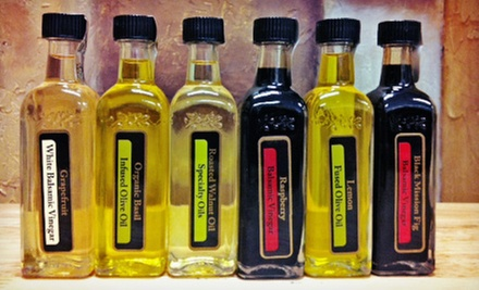 $10 for $20 Worth of Olive Oil and Balsamic Vinegar Sample Bottles at Oh, Olive!