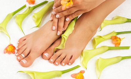 Haircut with Condition, Two Mani-Pedis or Facials, or Mani-Pedi with Facial at Tricoci University (Up to 67% Off)
