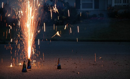 $8 for a Big-Blast Fireworks Package with Rainbow Candle from Rocket Fireworks ($16 Value)
