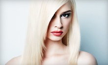 Conditioning Treatment with Option for Haircut and Single-Process Colour at Violet Blonde Salon (Up to 59% Off)