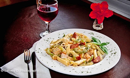 Italian Cuisine for Two, Four, or More at The Olive Branch Café (Half Off)