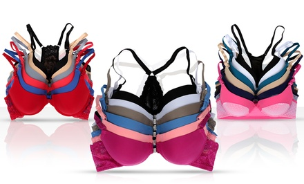 6-Pack of Front-Close Racerback Bras