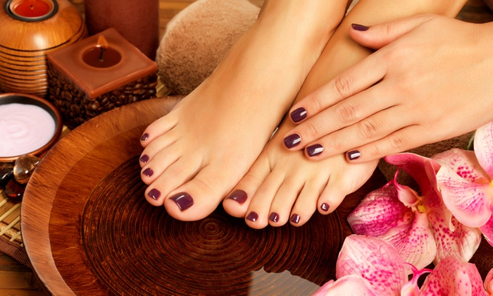 The Glam Beauty and Style Box - Sandton: Deluxe Manicure and Pedicure with Gelish Overlays and Other Treatments at The Glam Beauty and Style Box (Up to 68% Off)