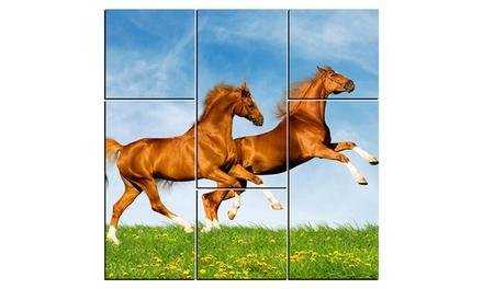 Vale de 50% de desconto em tela de seis peças personalizada com foto por 5€
