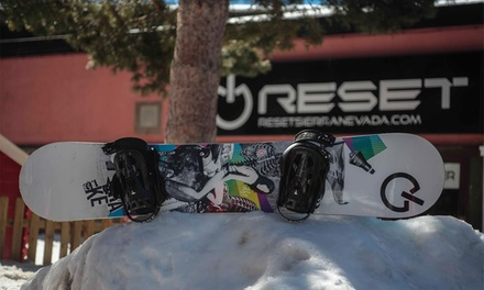Reset New School — Serra Nevada: 1, 2 ou 3 dias de aluguer de equipamento de ski ou snowboard desde 9,95€