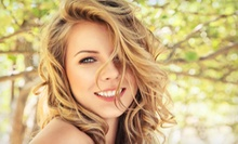 Haircut with Moroccan oil Treatment or Partial or Full Highlights at Silk Hair Spa (Up to 61% Off)
