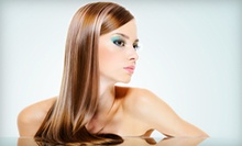 Haircut and Moroccanoil Treatment or Haircut with Partial Highlights at Universal Hair &amp; Body Salon (Up to 73% Off)