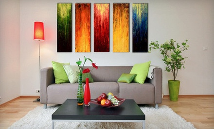 Multi-Panel Oil Painting or Extra-Large Hand-Painted Design with Gold Membership from Art Network Canada (Up to 90% Off)