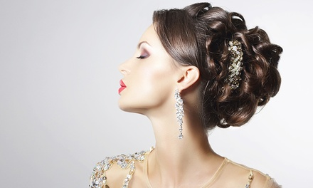 Special-Occasion Updo with Option Makeup Application at Salon Notrè (Up to 53% Off)