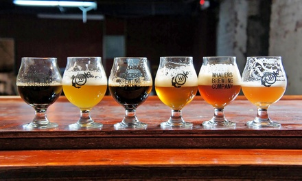 Tour and Tasting with Souvenir Glasses and Growlers for Two or Four at Whalers Brewing Company (Up to 46% Off)
