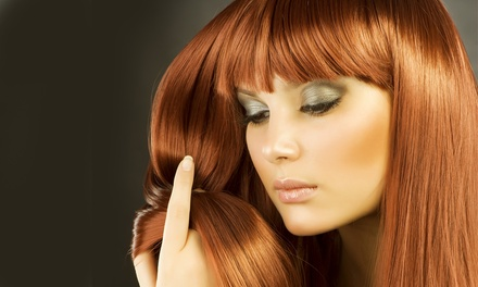 Haircut with Options for Deep Conditioning, Color, Highlights, or Keratin at Crown Salon (Up to 61% Off)