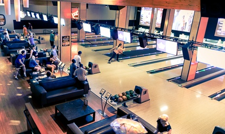 $32 for Bowling & Shoe Rental for Up to Four & Arcade Play at Grand Central Bowling Lounge ($62 Value)