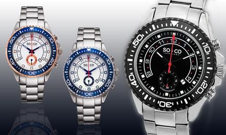 SO & CO New York Men's Sport Chronograph Yacht Club Watch