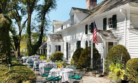 groupon daily deal - 1- or 2-Night Stay for Two with Optional Wine, Cheese Plate, and Welcome Drinks at Three Village Inn in Stony Brook, NY