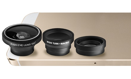 Aduro 3-Piece Camera Lens Kit for Apple iPhones