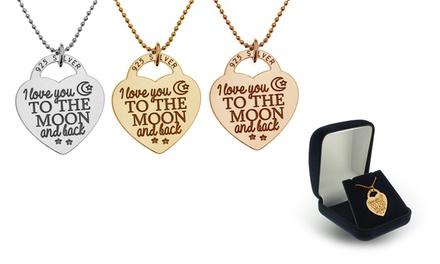 Colar e peça de prata em forma de cadeado-coração por 16,99€ ou dois por 26,99€