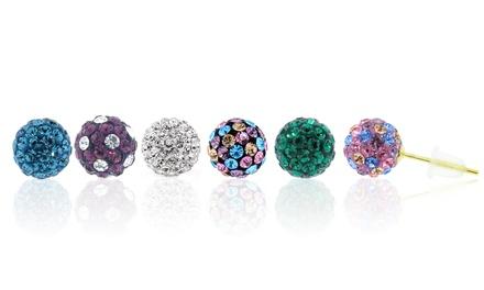 Swarovski Elements Crystal Fireball Studs in 14K Gold