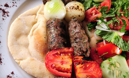 Mediterranean Food and Drinks at Ishtar Greek &amp; Mediterranean Cuisine (Half Off). Two Options Available.