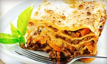 Catered Lasagna Meal for 10 or $50 for $100 Worth of Catering from Judy's Catering