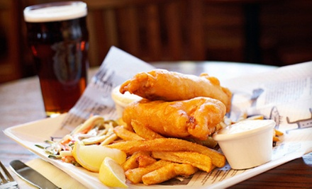 Pub Food and Drinks at Lucky Dublin (Up to 52% Off). Two Options Available.