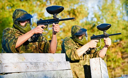 $ 29 for All-Day Paintball for Two with Equipment Rental and 500 Paintballs at T.C. Paintball ($ 62 Value)