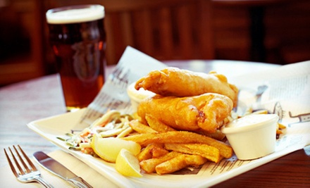 Pub Fare and Drinks at The Thirsty Lion Tavern (Half Off). Two Options Available.
