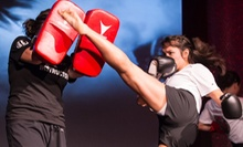5 or 10 Kickboxing Classes with Gloves and Shirt at American Black Belt Academy (Up to 71% Off)