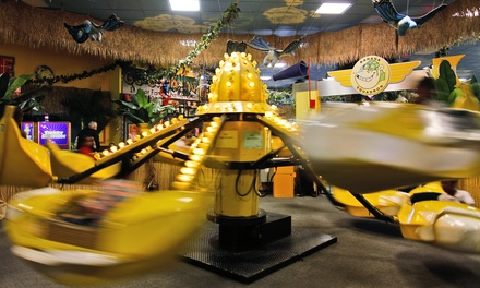 Indoor Amusement-Center Visit for One or Two with Tokens, Pizza, and Drinks at Go Bananas (Up to 48% Off)