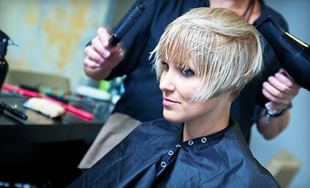 Haircut Package with Style and Optional Partial Highlights at Jenny B Salon (52% Off)